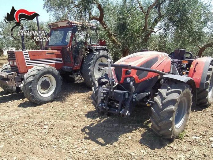 trattori rubati